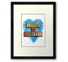 It's A Boy! Framed Print