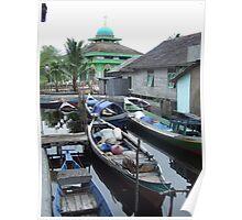Borneo boats Poster