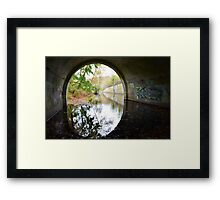 Graffiti under a bridge - Framed Print