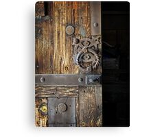 Wood Door ~ Metal Hardware Canvas Print