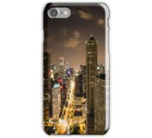 Chicago Long Exposure at Night iPhone Case/Skin