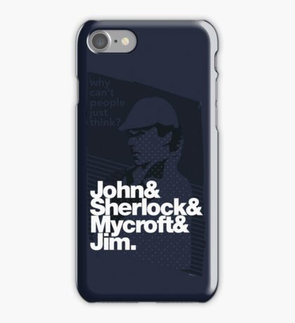 Why Can't people just think? iPhone Case/Skin