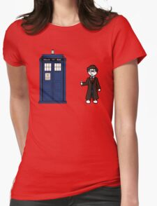 Dr Who (10) car sticker family (also shirts) Womens Fitted T-Shirt