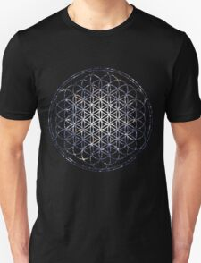 Flower Of Life - Sacred Geometry Star Cluster Unisex T-Shirt