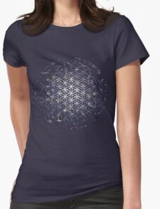 Flower Of Life - Sacred Geometry Star Cluster Womens Fitted T-Shirt