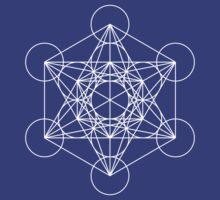Metatron's Cube - Sacred Geometry White Ink by SirDouglasFresh