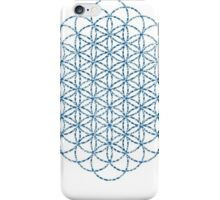Flower Of Life - Sacred Geometry Blue iPhone Case/Skin
