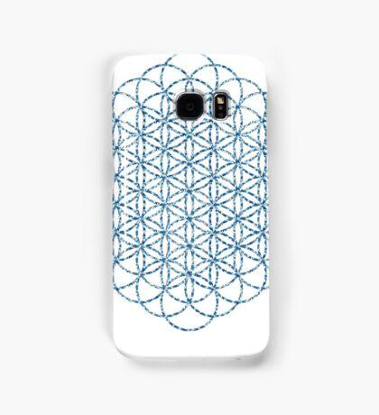 Flower Of Life - Sacred Geometry Blue Samsung Galaxy Case/Skin