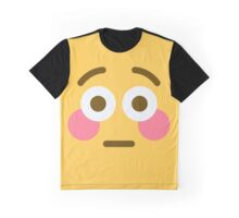 Flushed face emoji Graphic T-Shirt