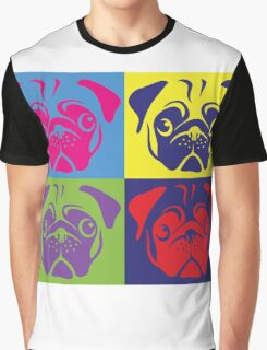 Pug Pop Art By AiReal Apparel Graphic T-Shirt