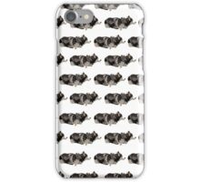 Peach Husky White Pattern iPhone Case/Skin
