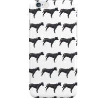 Light Purple Pup White Pattern iPhone Case/Skin