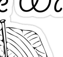 Knit Fast, Die Warm Sticker