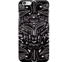 Black & White Leaves Inverted iPhone Case/Skin