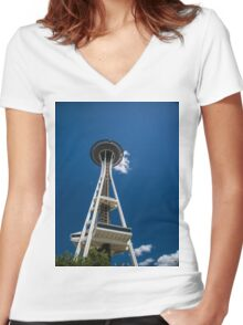 Seattle Space Needle Women's Fitted V-Neck T-Shirt