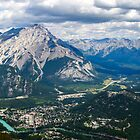 Panorama from Sulphur Mountain by Chris  Randall