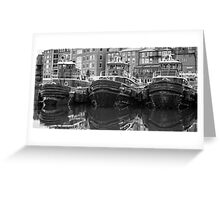 Tug Boat Alley Portsmouth New Hampshire Greeting Card