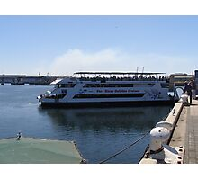 Dolphin Explorer pulls away from the wharf. Port Adelaide. A.Aust. Photographic Print