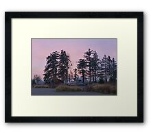 dog park at dusk Framed Print