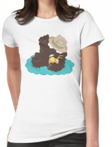 Emoc at the beach Womens Fitted T-Shirt