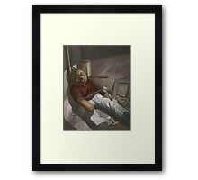 Drug Addict Teddy Framed Print