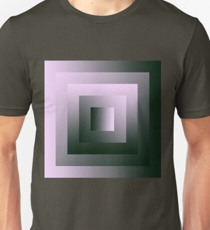 The Pink & Green Square Swirl Unisex T-Shirt