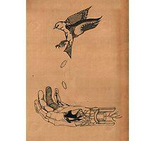 Bird Hand Photographic Print