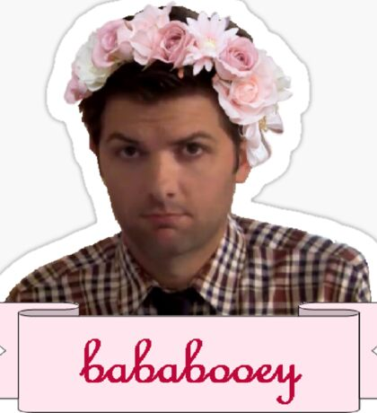 Ben Wyatt Parks and recreation Bababooey Sticker