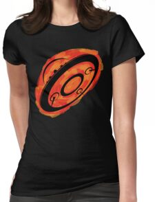 U.F.O. (red and orange glow) Womens Fitted T-Shirt