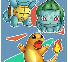 Retro Pokemon Poster by Shiaemi
