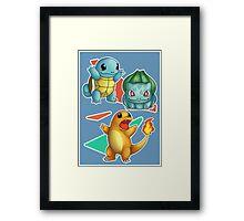 Retro Pokemon Poster Framed Print