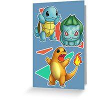 Retro Pokemon Poster Greeting Card