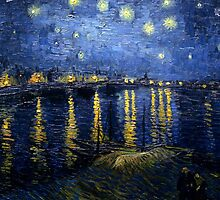 Starry Night Over the Rhone - Van Gogh by IntWanderer