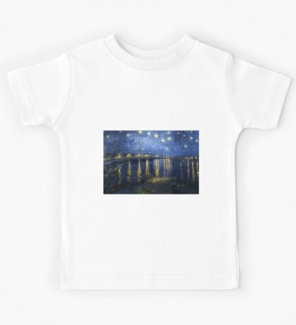 Starry Night Over the Rhone - Van Gogh Kids Tee