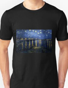 Starry Night Over the Rhone - Van Gogh Unisex T-Shirt