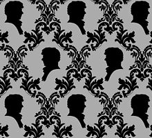Sherlock Silhouette Wallpaper Case  by novawhitefire