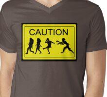 Zombies Xing Mens V-Neck T-Shirt