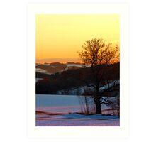 Colorful winter wonderland sundown V | landscape photography Art Print