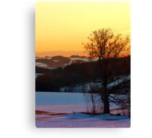 Colorful winter wonderland sundown V | landscape photography Canvas Print
