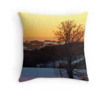 Colorful winter wonderland sundown V | landscape photography Throw Pillow