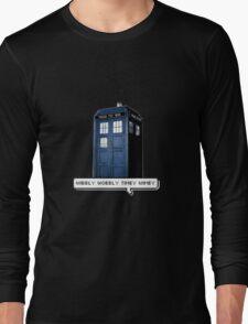 Wibbly Wobbly Timey Wimey Tardis Long Sleeve T-Shirt