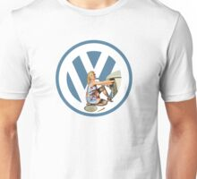 Volkswagen Pin-Up Damsel in Distress (blue) Unisex T-Shirt