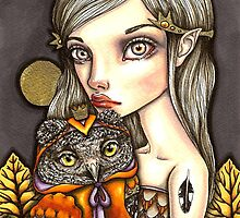 Princess Celine and Her Majesty the Owl by tanyabond