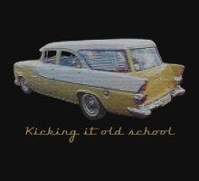 Kicking it old school (EK Wagon) Kids Tee