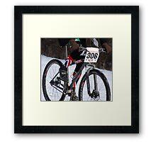 Snow Burns  Framed Print
