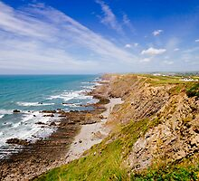 Approaching Widemouth Bay by cornishwhippet
