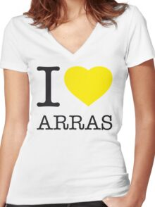 I ♥ ARRAS Women's Fitted V-Neck T-Shirt