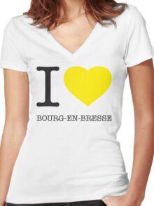I ♥ BOURG-EN-BRESSE Women's Fitted V-Neck T-Shirt