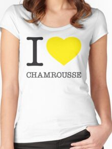 I ♥ CHAMROUSSE Women's Fitted Scoop T-Shirt