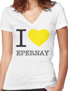 I ♥ EPERNAY Women's Fitted V-Neck T-Shirt